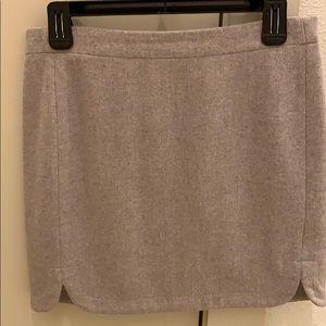 Jcrew khaki wool miniskirt